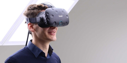 Tobii Pro VR Integration based on HTC Vive HMD for behavioral research in virtual environments