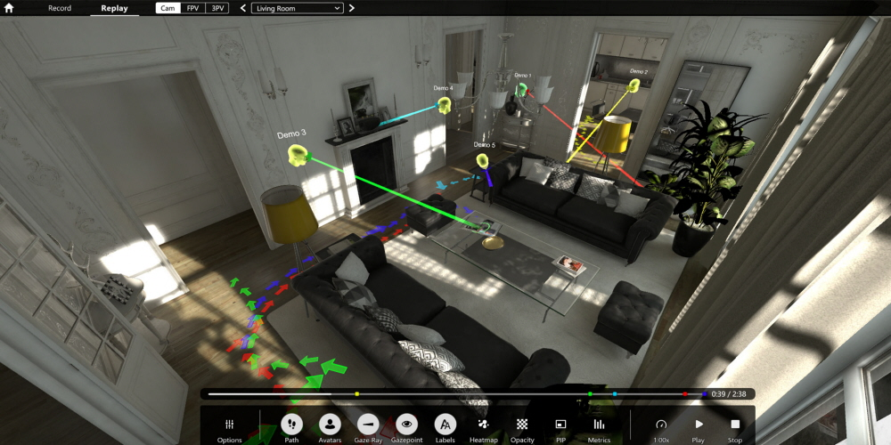 Tobii Pro VR Analytics for eye tracking studies in VR