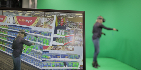 Tobii Pro eye tracking VR to test shopper journey and understand decision making process