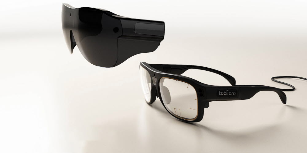 Tobii Pro Glasses 3 with safety lenses side view